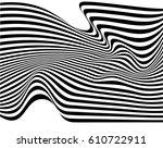 optical art abstract background ... | Shutterstock .eps vector #610722911