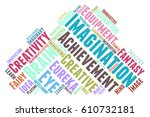 imagination word cloud... | Shutterstock .eps vector #610732181