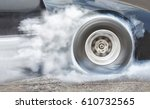 Drag Racing Car Burns Rubber...