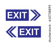 exit sign left and right...   Shutterstock .eps vector #610738895