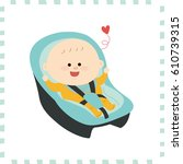 cute baby boy.vector... | Shutterstock .eps vector #610739315
