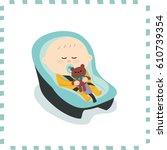 cute baby boy.vector... | Shutterstock .eps vector #610739354