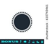 sun icon flat. simple black...
