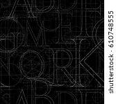 font grunge seamless pattern ... | Shutterstock . vector #610748555