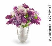 Beautiful Lilac Flowers In Vas...