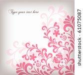 soft floral background | Shutterstock .eps vector #61075087