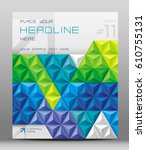 design for brochure cover with... | Shutterstock .eps vector #610755131