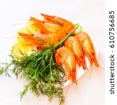 Small photo of fresh raw shrimps in a bowl. shrimps cooked. Grilled shrimp isolated on white background