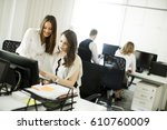 view at business partners... | Shutterstock . vector #610760009