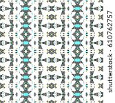 mosaic endless colorful pattern ... | Shutterstock . vector #610762757
