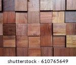 Close Up Block Of The Wood Wal...
