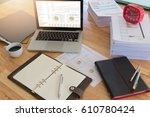 business concept of office... | Shutterstock . vector #610780424