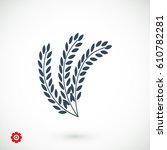 wheat vector icon  vector best... | Shutterstock .eps vector #610782281