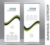 roll up business brochure flyer ...   Shutterstock .eps vector #610784249