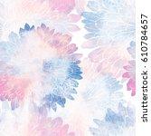 chrysanthemum seamless pattern. ... | Shutterstock . vector #610784657