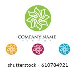 beauty vector flowers design... | Shutterstock .eps vector #610784921