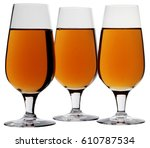 three glasses of calvados  cut... | Shutterstock . vector #610787534