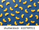 creste di gallo pasta pattern...   Shutterstock . vector #610789511