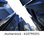 panorama cityscape modern high... | Shutterstock . vector #610790351