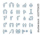 business people  management...   Shutterstock .eps vector #610792655
