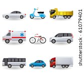 realistic transportation icons... | Shutterstock .eps vector #61079401