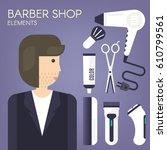 Barber Shop Elements.a Set Of...
