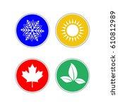 set of modern season colored... | Shutterstock . vector #610812989