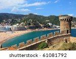 view of tossa de mar village... | Shutterstock . vector #61081792