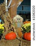 Scarecrow Man In Autumn Market...