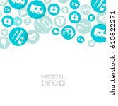 medical care template with... | Shutterstock .eps vector #610822271