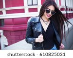 outdoor lifestyle fashion... | Shutterstock . vector #610825031