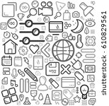 gray great icon line background | Shutterstock .eps vector #610829561
