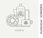 line flat plain vector icon...   Shutterstock .eps vector #610842851