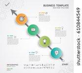 infographics elements diagram... | Shutterstock .eps vector #610844549