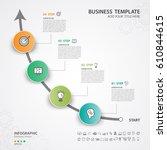 infographics elements diagram... | Shutterstock .eps vector #610844615