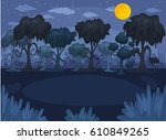 vector horizontal illustration... | Shutterstock .eps vector #610849265