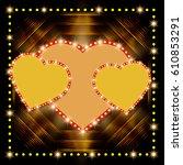 valentine   s shining... | Shutterstock .eps vector #610853291