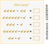 mathematics task. how many... | Shutterstock .eps vector #610858949