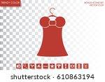 woman dress logo icon vector...   Shutterstock .eps vector #610863194