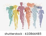running people. fitness...   Shutterstock .eps vector #610866485
