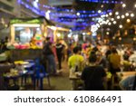 food truck festival blurred on... | Shutterstock . vector #610866491