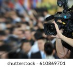 live broadcasting  television... | Shutterstock . vector #610869701