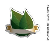 green ecology label icon vector ... | Shutterstock .eps vector #610878959