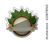 green ecology label icon vector ... | Shutterstock .eps vector #610878965