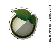 green ecology label icon vector ... | Shutterstock .eps vector #610878995