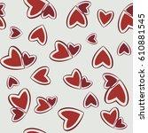 hearts seamless pattern. vector | Shutterstock .eps vector #610881545