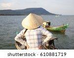 vietnamese woman with... | Shutterstock . vector #610881719