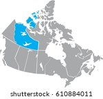 map canada vector | Shutterstock .eps vector #610884011