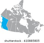 map canada vector | Shutterstock .eps vector #610885805