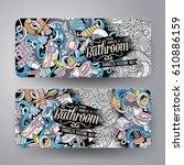 cartoon cute colorful vector...   Shutterstock .eps vector #610886159